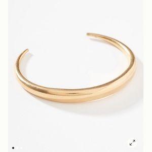 Anthropologie Gold Dome Bracelet